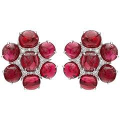 Ruchi New York Spinel and Diamond Flower Earrings