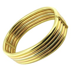 Cartier 18 Karat Tri-Colored Gold Bangle Bracelet