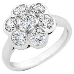 18 Carat White Gold 'Daisy' Cluster Ring TDW 2.24 Carat