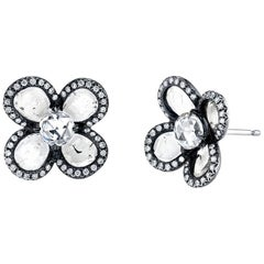 Flat Diamond and Rose Cut Flower Studs