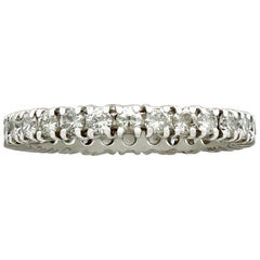 1970s Diamond and White Gold Full Eternity Ring
