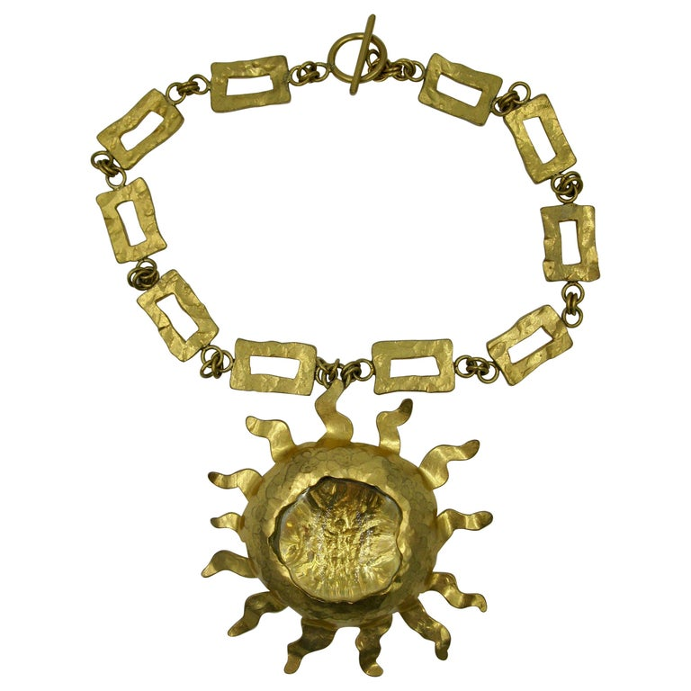 Sun necklace, originally made for Jessye Norman, 20th century, offered by Annas Antique Jewelry