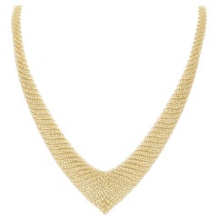 Tiffany & Co. Yellow Gold Elsa Peretti Mesh Bib Necklace