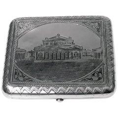 Antique Russian Silver Niello Box Moscow 1895 Aleksandr Smirnov