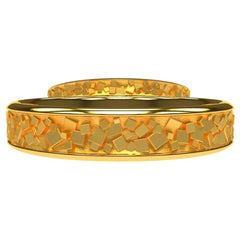 18 Karat Yellow Wedding Rings Bridal Set