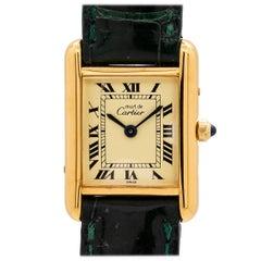 Ladies Cartier Tank Louis Vermeil Quartz Watch, circa 2000s