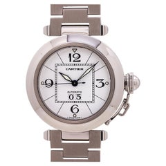 """Cartier Pasha C """"Big Date"""" Stainless Steel Automatic Watch, circa 2000s"""