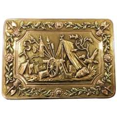 1820s 18 Karat Tri-Color Russian Snuff Box