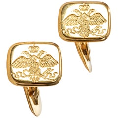 Nicholas I Romanov Eagle Cufflinks by Marie Betteley
