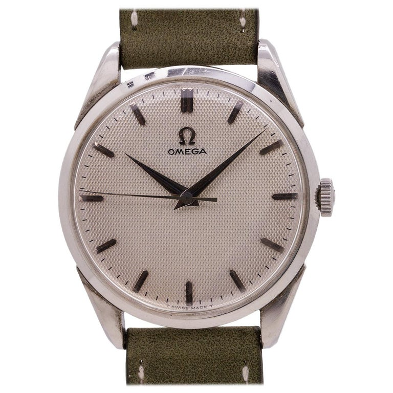 fee3a57ec091f Omega Stainless Steel Manual Wind ref  2910-3SC
