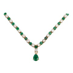Emeralds and Diamonds French River Necklace