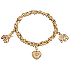 Chopard Gold and Diamonds Charms Bracelet