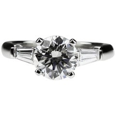 Handmade Asprey Certified Round Diamond 2.02 ct G VVS2 Single Stone Ring