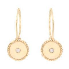 Julia-Didon Cayre 18 Karat Gold Charm Earrings with Diamonds