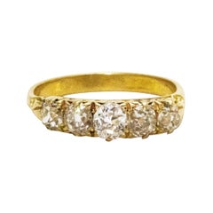 Victorian Diamond Five-Stone 18 Carat Gold Ring