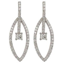 Diamond Dangle Earrings 1.84 Carat