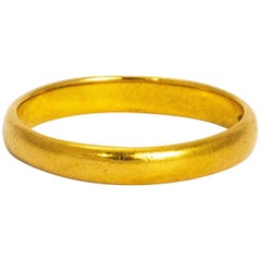 Art Deco 22 Carat Gold Band