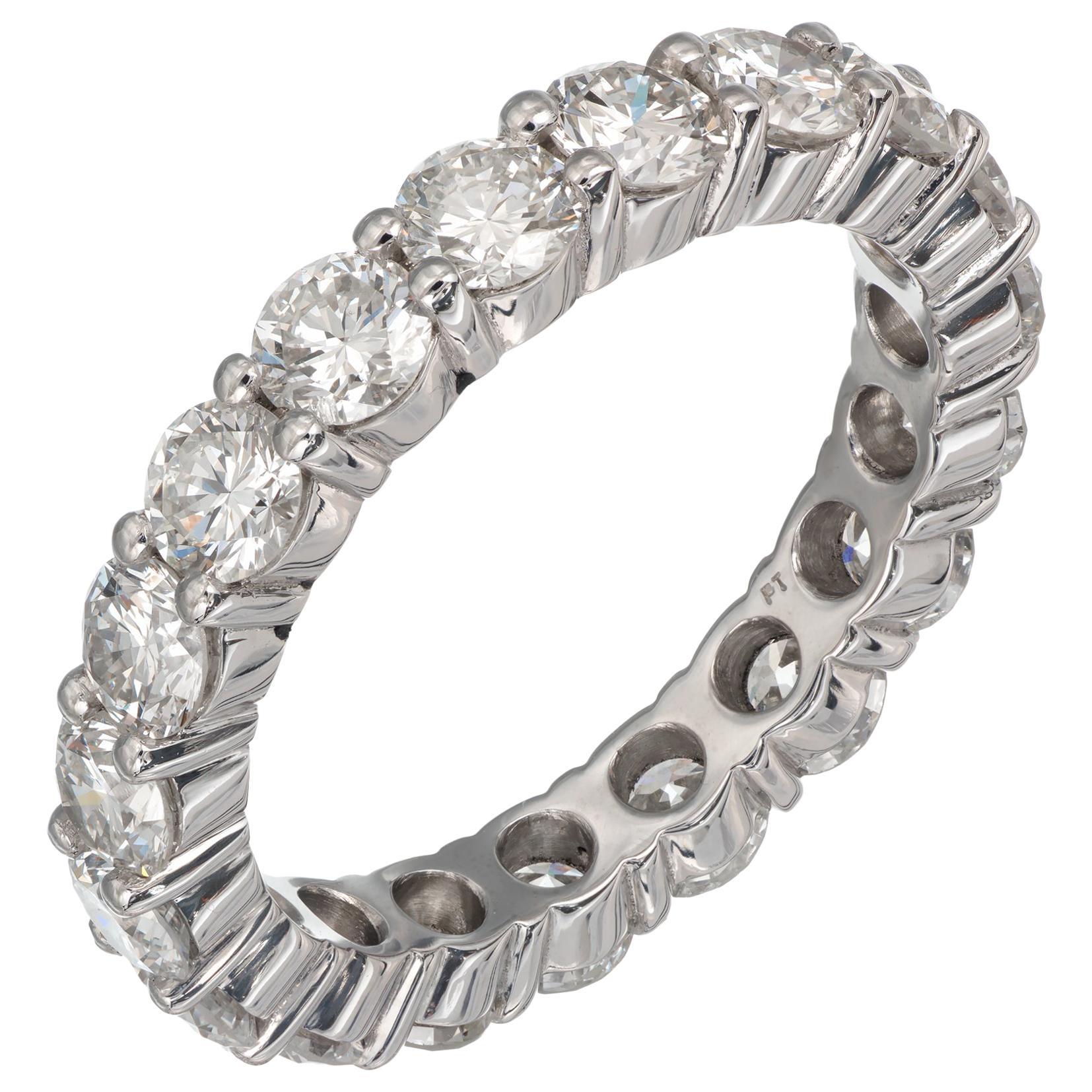 Peter Suchy 2.72 Carat Diamond Platinum Eternity Wedding Band Ring