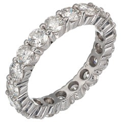 Peter Suchy 2.72 Carat Diamond Platinum Eternity Wedding Band Ring