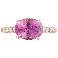 Paolo Costagli 18 Karat Rose Gold Pink Sapphire and Diamond Ring