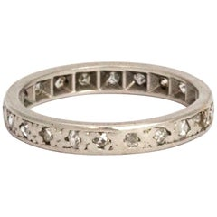 Vintage Diamond Platinum Eternity Ring