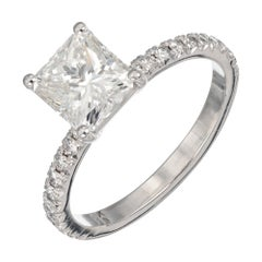 Peter Suchy EGL Certified 1.61 Carat Diamond Platinum Engagement Ring