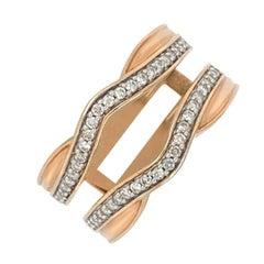 14K Rose Gold 0.25ct Diamond Enhancer Ring