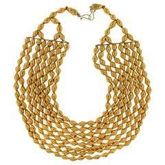 22 Karat Yellow Gold, Multi-Strand Necklace