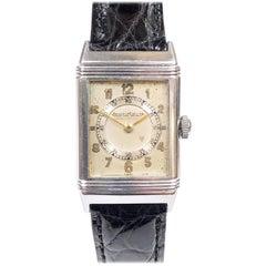 1930s Jaeger LeCoultre Steel Reverso Mechanical Wrist Watch