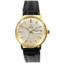 Omega 1960s Automatic Calendar Gold Top Wristwatch New Never Worn