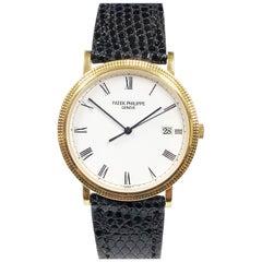 Patek Philippe Calatrava Yellow Gold Hobnail Bezel Ref 3944 Gents Quartz Watch