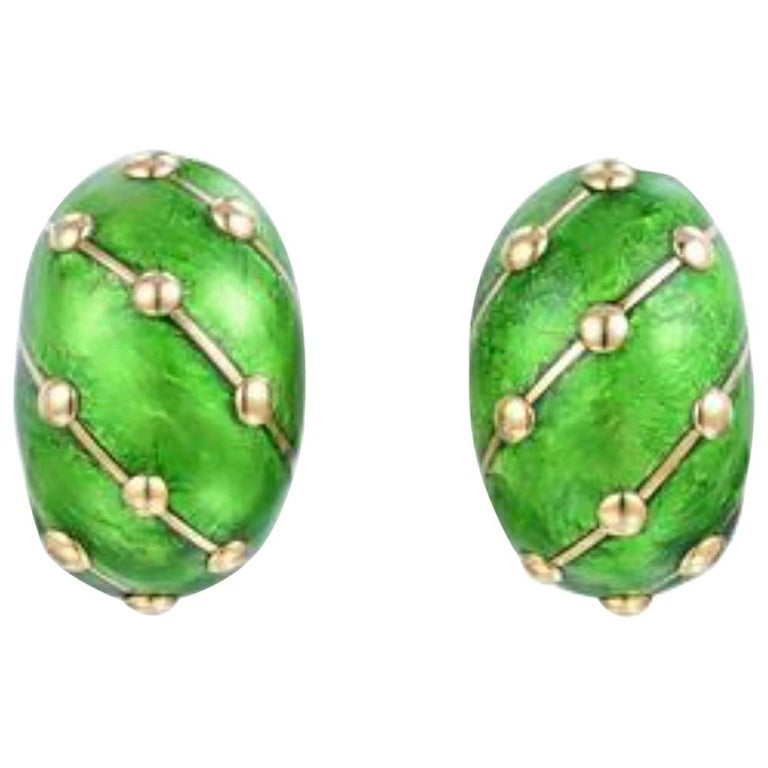 Tiffany & Co. Schlumberger 18 Karat Banana Earrings For Sale
