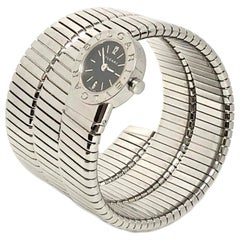Bulgari Ladies Steel Serpenti Snake Bracelet Quartz Wristwatch