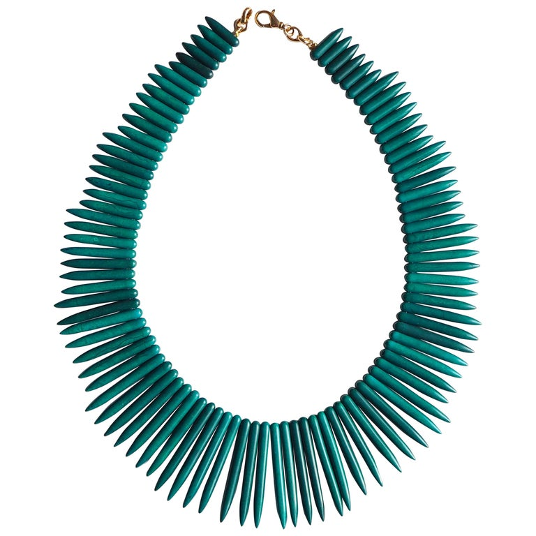 Amazonite Modern Shape Necklace For Sale