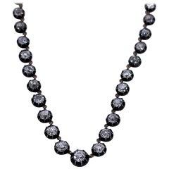 Georgian Style Diamond Riviera Necklace