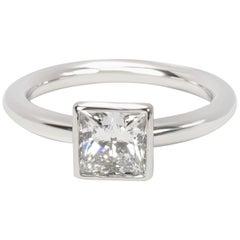 Tiffany & Co. Princess Cut Bezel Set Diamond Ring '1.04 Carat G/VVS2'
