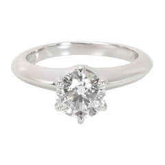 Tiffany & Co. Diamond Solitaire Engagement Ring in Platinum 'F/VVS1' 0.93 Carat