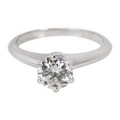 Tiffany & Co. Diamond Solitaire Engagement Ring in Platinum F VS1 '0.64 Carat'
