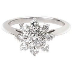 Tiffany & Co. Diamond Flower Ring in Platinum 0.60 Carat