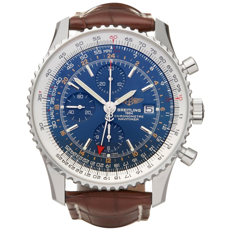 Breitling Navitimer World GMT Stainless Steel A2432212/C651