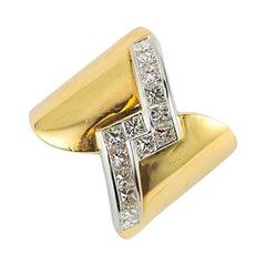 1.51 Carat Diamond Gold Band Ring