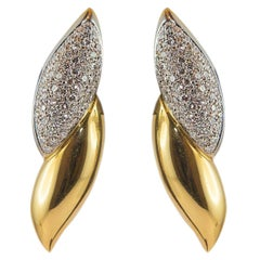 2.26 Carat White Diamonds Yellow Gold Earrings