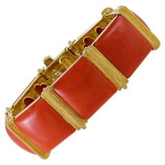 Gold and Coral Bracelet by Henry Dunay