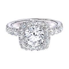 GIA Certified 1.16 Carat E/VS1 Brilliant Cut Diamond Engagement Ring