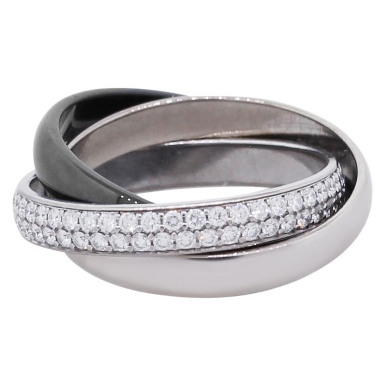 Cartier Trinity Diamond Pave Rolling Ring