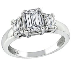 GIA Certified 1.01 Carat Diamond Platinum Ring