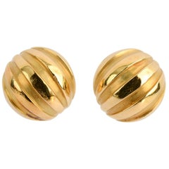 Tiffany & Co. Small Gold Dome Earrings