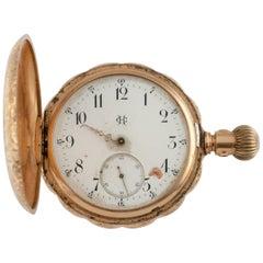 HC/CH Vacheron & Constantin Double Hunter 14 Karat Yellow Gold Pocket Watch