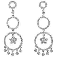Open-Work Diamond Dangle Earrings