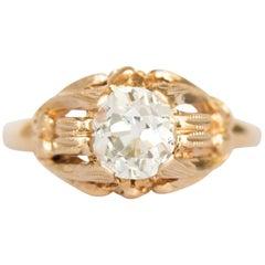 .97 Carat Diamond Yellow Gold Engagement Ring